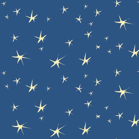 Sleepy Time Stars fabric by vanillabeandesigns on Spoonflower - custom fabric