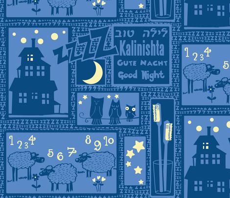 good-night fabric by motyka on Spoonflower - custom fabric