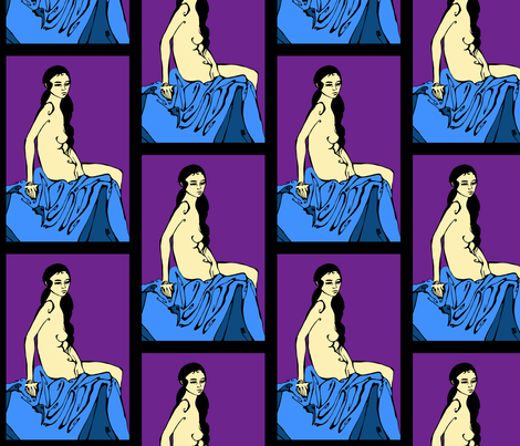 Undressed for Bed fabric by art_rat on Spoonflower - custom fabric