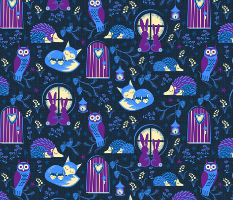 sleepy time fabric by cjldesigns on Spoonflower - custom fabric