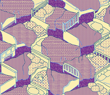 Time to get tucked in fabric by mongiesama on Spoonflower - custom fabric
