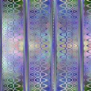 Seamless Lacy Stripes Periwinkle  Blue Batik