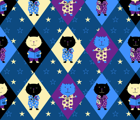 The Cats' Pajamas fabric by jenimp on Spoonflower - custom fabric