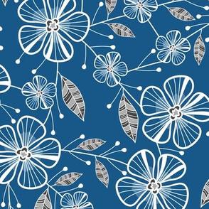 Blossoms & Bouquets (Blue)