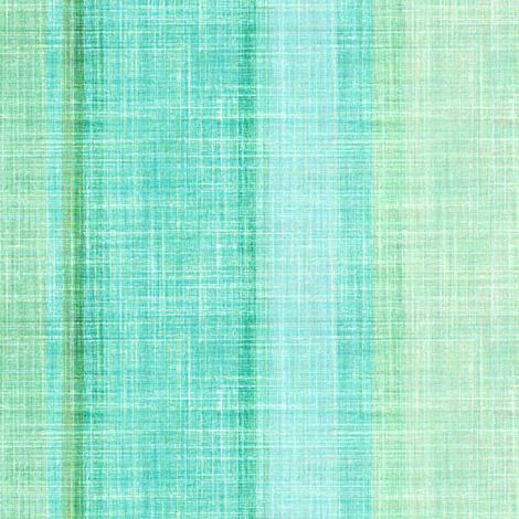 Beach stripe in faux linen aqua fabric by joanmclemore on Spoonflower - custom fabric