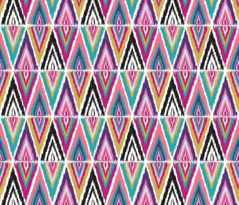 Color Pop Ikat Split Diamonds fabric by bohemiangypsyjane on Spoonflower - custom fabric