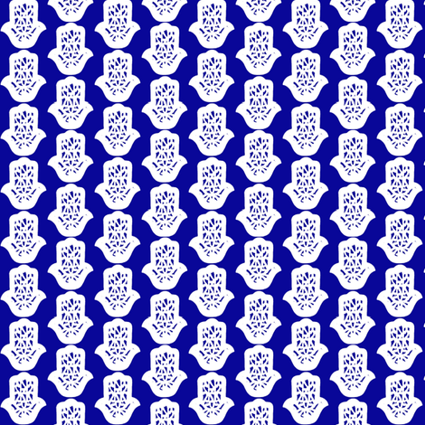 hamsa blue small fabric by miss_blümchen on Spoonflower - custom fabric