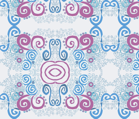 Swirly Spirals by Paula fabric by patwood on Spoonflower - custom fabric