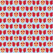 Red Brooch -blue-