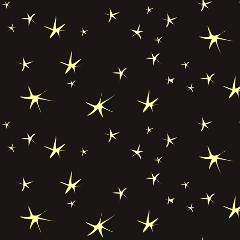 Sleepy Time Stars on Black fabric by vanillabeandesigns on Spoonflower - custom fabric