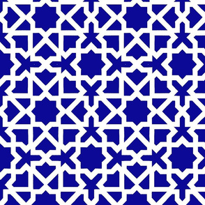 Marrakesch blue-white XL