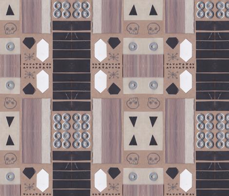 Bone + Gem + Wood fabric by jlindsey on Spoonflower - custom fabric