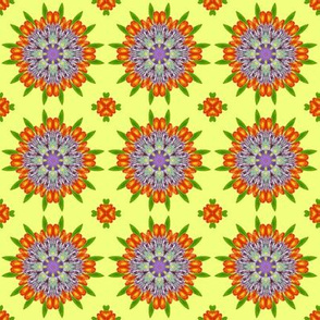 Floral Garden Kaleidoscope Yellow