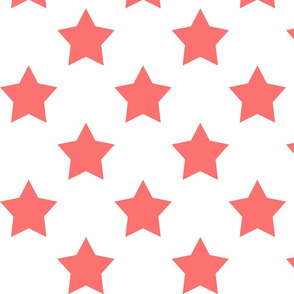 coral star on white