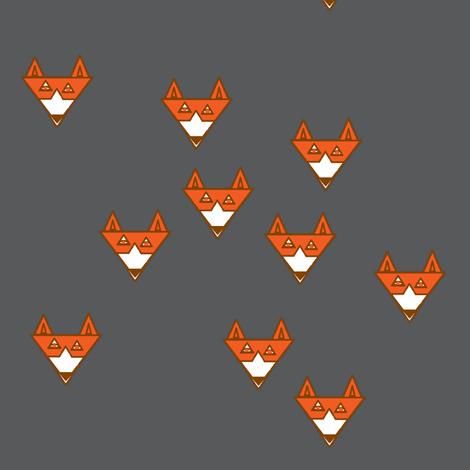 fox_orangwhite_gray fabric by shy_bunny on Spoonflower - custom fabric