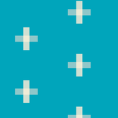 Swiss Cross Cyan