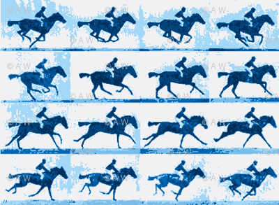 Muybridge Gallop (porcelain)