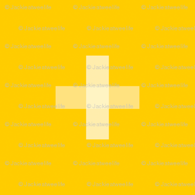 Swiss Cross Yellow