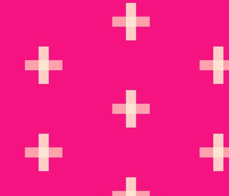 Swiss Cross Magenta fabric by jackieatweelife on Spoonflower - custom fabric