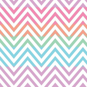 Chevron pastel with white