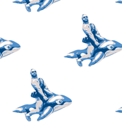 Whale Rider (porcelain)