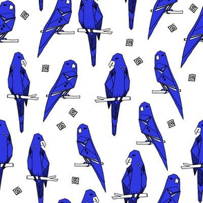 Parrots - Blue/White (Custom) by Andrea Lauren