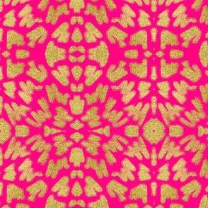 Glitter Brush Strokes + Hot Pink
