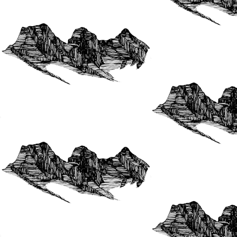 Three Sisters Mountains Sketch