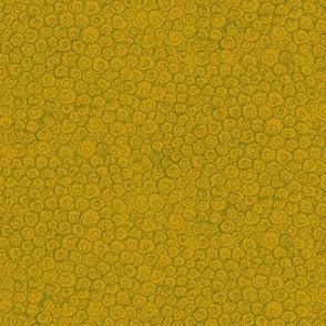 gold green swirls