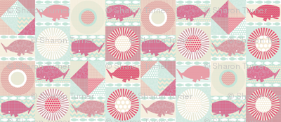 geo whales pink