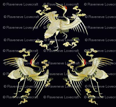 royal golden novelty thrones embroidery asian japanese china chinese oriental cheongsam kimono cranes storks herons birds clouds imperial chinoiserie kings queens museum traditional rank regal korean kabuki geisha yuan ming qing dynasty tapestry  vintage