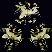 Spoonflower_golden_cranes_clouds_shop_thumb
