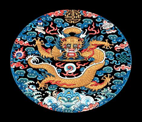 big royal golden novelty thrones embroidery asian japanese china chinese oriental cheongsam kimono dragon bats fire clouds imperial chinoiserie museum traditional rank regal korean kabuki geisha yuan ming qing dynasty tapestry tibet tibetan vintage king fabric by raveneve on Spoonflower - custom fabric