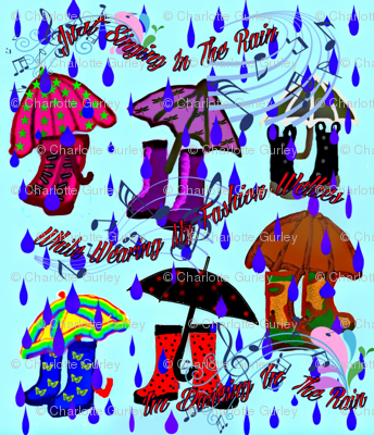 Singing In Rain In Fashion Wellies