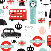 Crazy for London UK kids pattern