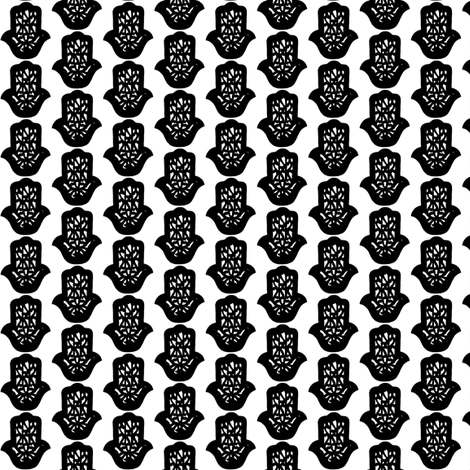 hamsa white-black-small fabric by miss_blümchen on Spoonflower - custom fabric