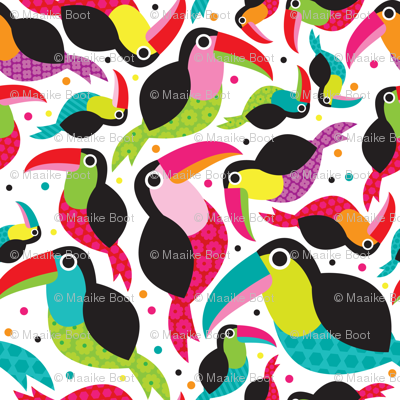 Colorful Brazil Tucan bird illustration