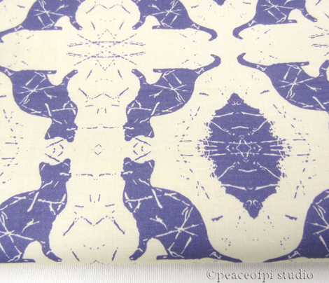 Cat Silhouette Damask Buttercream