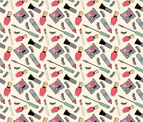 Makeup fabric by coleheart on Spoonflower - custom fabric