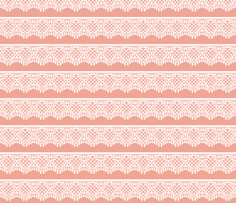 Lace (on peach) fabric by cerigwen on Spoonflower - custom fabric