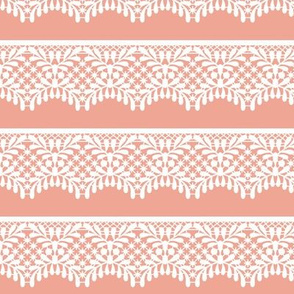 Lace (on peach)