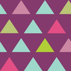 triangles - Purple and Mint