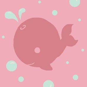 Pink Kawaii Whales