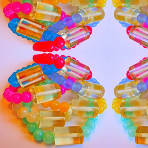 Vibrant Lucite Jade Bracelets