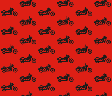 mod motorcycle fabric by babynell on Spoonflower - custom fabric