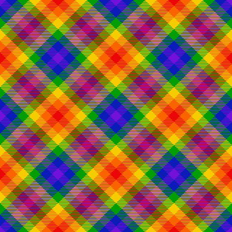 rainbow_tartan_11 fabric by spontaneouscombustion on Spoonflower - custom fabric