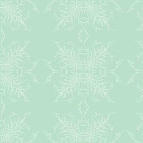 Turquoise Toile
