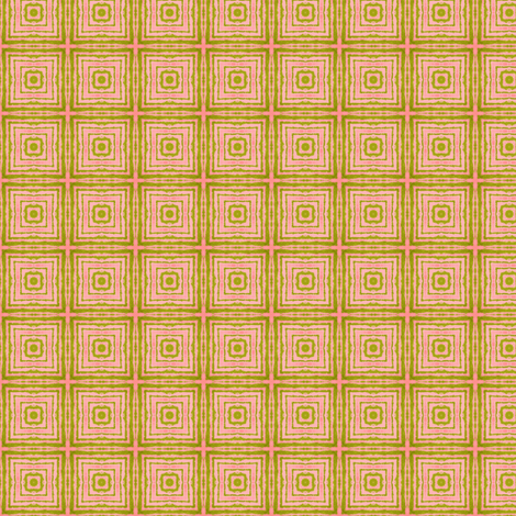 Peach and Avocado in Lilliput: Modern Squares fabric by tallulahdahling on Spoonflower - custom fabric