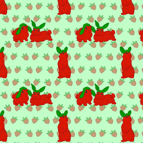 Strawbunnies on Mint