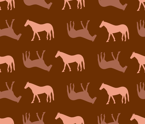 Horse_Trails fabric by illustrative_images on Spoonflower - custom fabric